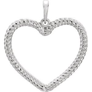 Sterling Silver Rope Heart Pendant
