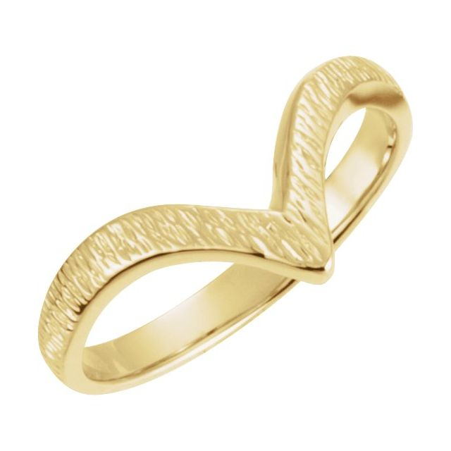 14K Yellow Grooved