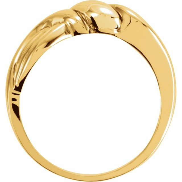 14K Yellow/White Freeform Ring