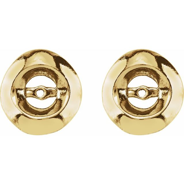 14K Yellow 3.7mm ID Earring Jackets