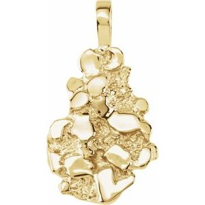 18K Yellow Nugget Pendant