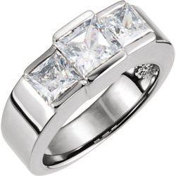 Zásnubný prsteň - 3 kamene alebo obrúčka - neosadené