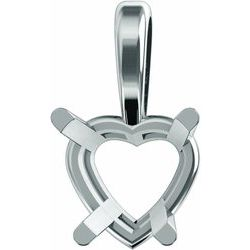 Heart 4-krapne Wire Basket Prívesok Neosadený