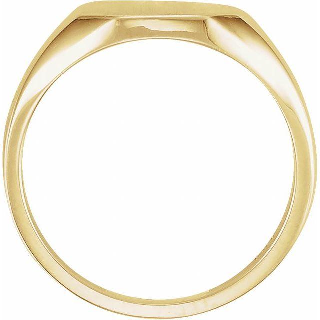 14K Yellow 11x9 mm Octagon Signet Ring