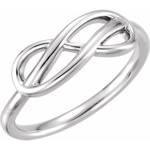 Platinum Double Infinity-Inspired Ring