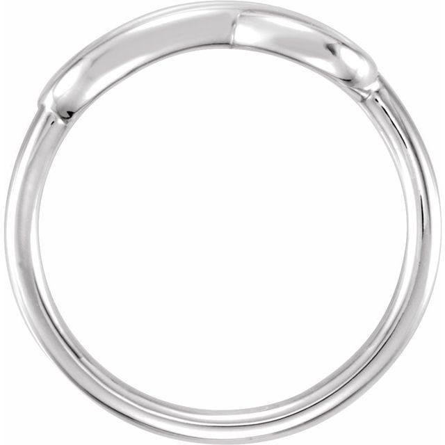 14K White Double Infinity-Inspired Ring