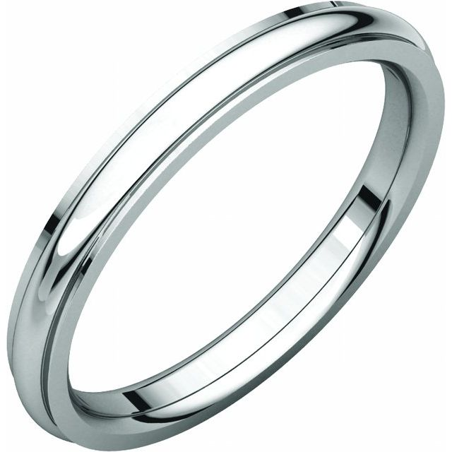 Sterling Silver 2.5 mm Comfort Fit Edge Band Size 5