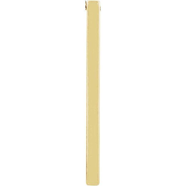 14K Yellow 29.7x2.2 mm Bar Pendant