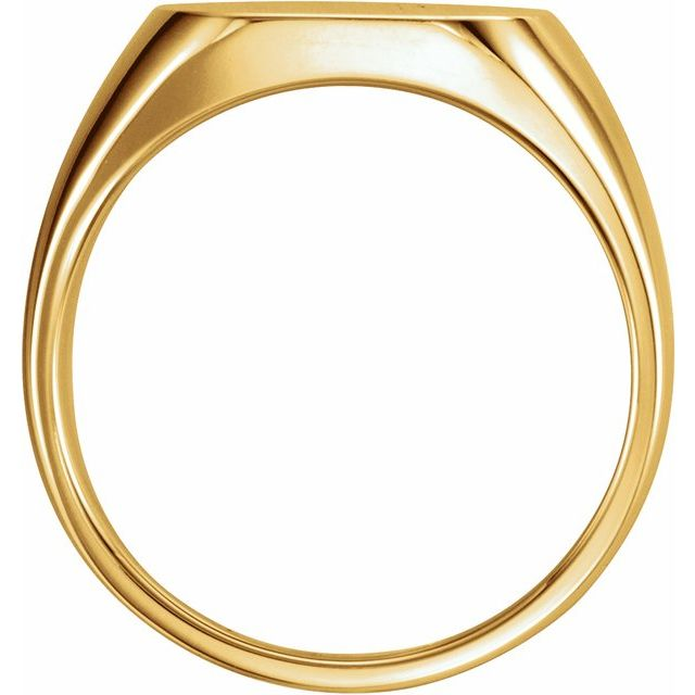 14K Yellow 14x14 mm Square Signet Ring