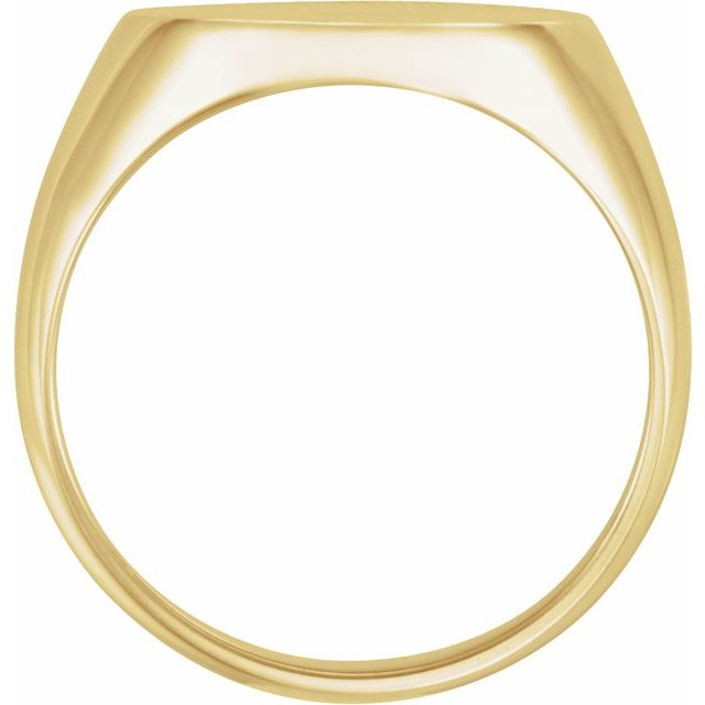10K Yellow 18x16 mm Oval Signet Ring