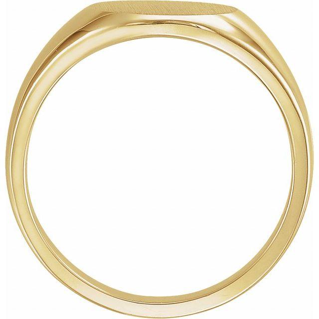 14K Yellow 13 mm Round Signet Ring
