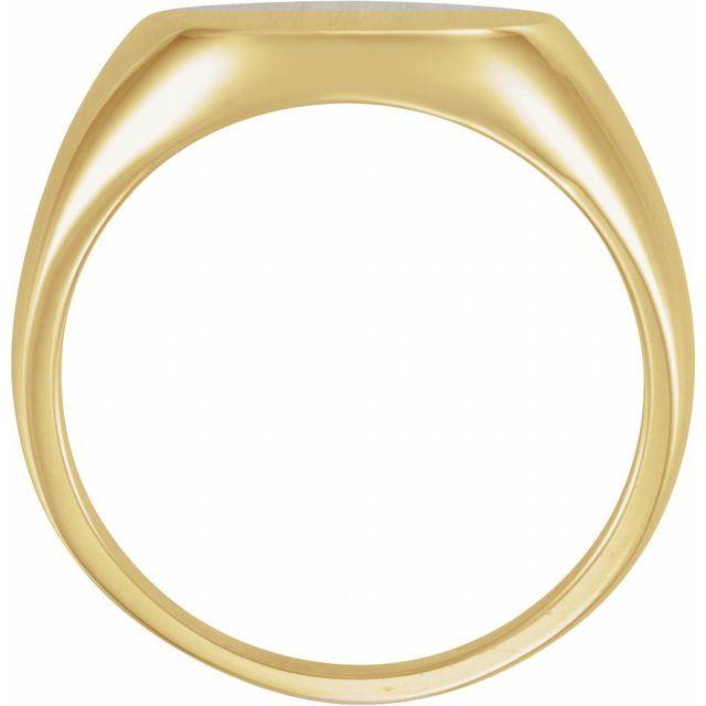 10K Yellow 15 mm Round Signet Ring