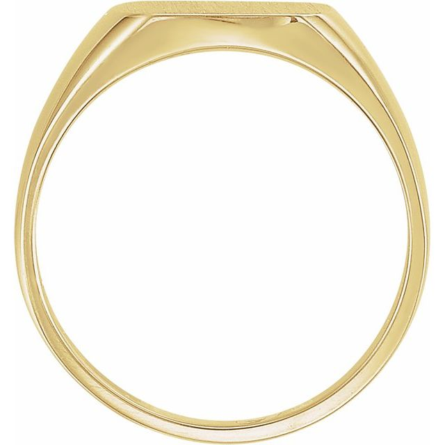 14K Yellow 12x12 mm Square Signet Ring