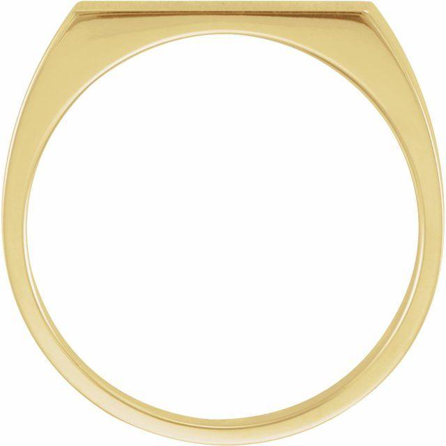 10K Yellow 15x6 mm Rectangle Signet Ring