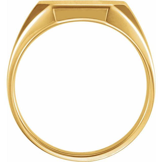14K Yellow 16x14 mm Octagon Signet Ring