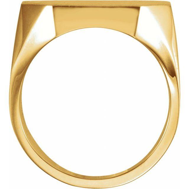 14K Yellow 22x20 mm Octagon Signet Ring