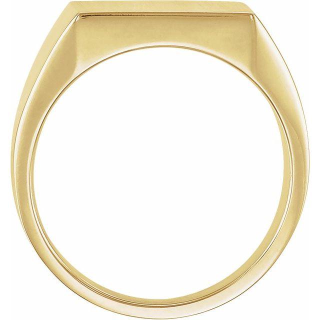 14K Yellow 14 mm Square Signet Ring