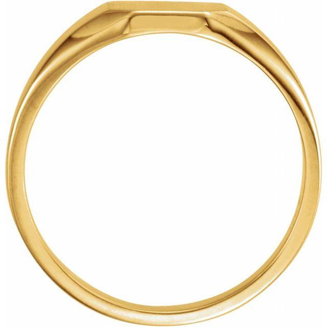 14K Yellow 9x7 mm Octagon Signet Ring