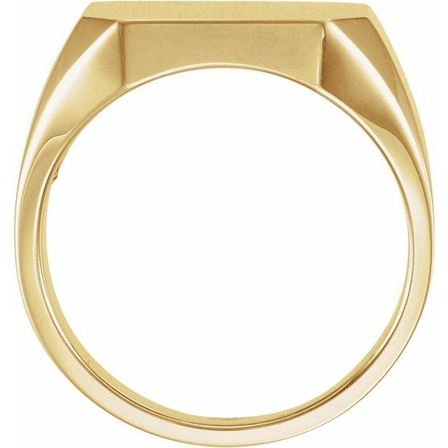 14K Yellow 18x16 mm Octagon Signet Ring
