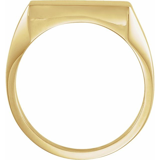 14K Yellow 16 mm Square Signet Ring
