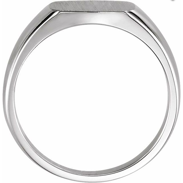 Sterling Silver 9 mm Square Signet Ring