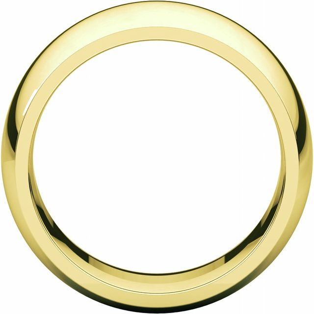 14K Yellow 10 mm Half Round Comfort Fit Band Size 10