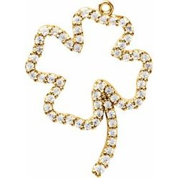 Petite Four Leaf Clover Dangle Mounting