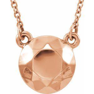 "14K Rose Faceted Design Circle 16.5"" Necklace"