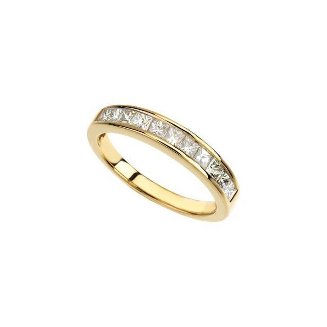 14K Yellow 3/4 CTW Diamond Anniversary Band Size 6