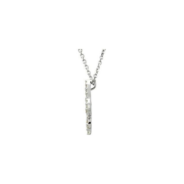 14K White 1/6 CTW Diamond Fleur De Lis 16