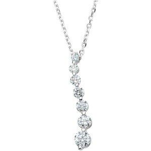 "14K White 1/2 CTW Diamond Journey 18"" Necklace"
