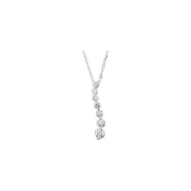 14K White 1/2 CTW Diamond Journey 18