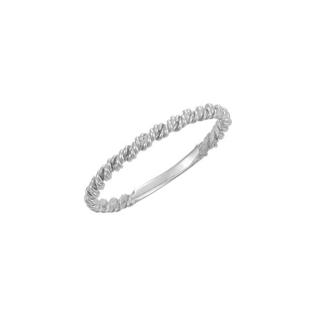 Sterling Silver 2 mm Twisted Rope Band