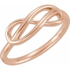 14K Rose Double Infinity-Inspired Ring