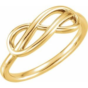 14K Yellow Double Infinity-Inspired Ring