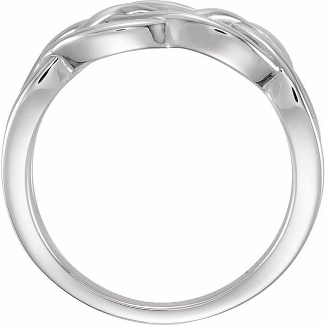 Sterling Silver 9 mm Criss-Cross Ring
