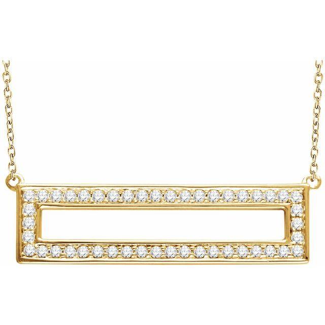 14K Yellow 3/8 CTW Diamond Rectangle 16-18