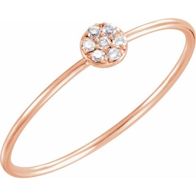 14K Rose .04 CTW Diamond Petite Circle Ring