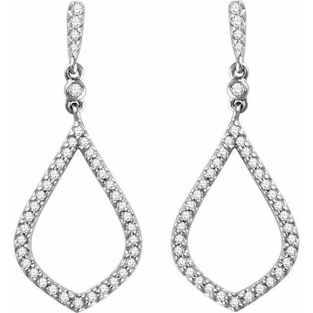 14K White 1/4 CTW Diamond Earrings