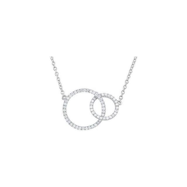 14K White 1/3 CTW Diamond Circle 18
