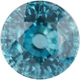 Round Genuine Blue Zircon (Notable Gems™)