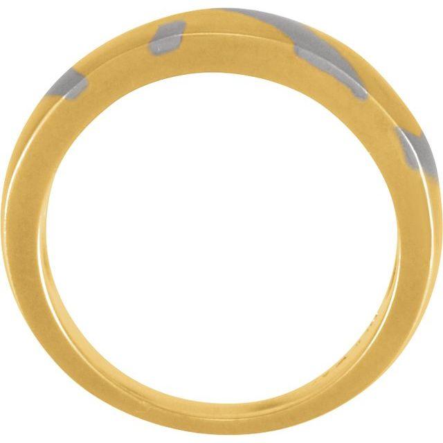 18K Yellow & Platinum 6.25 mm Inlaid Design Band