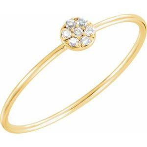 14K Yellow .04 CTW Diamond Petite Circle Ring