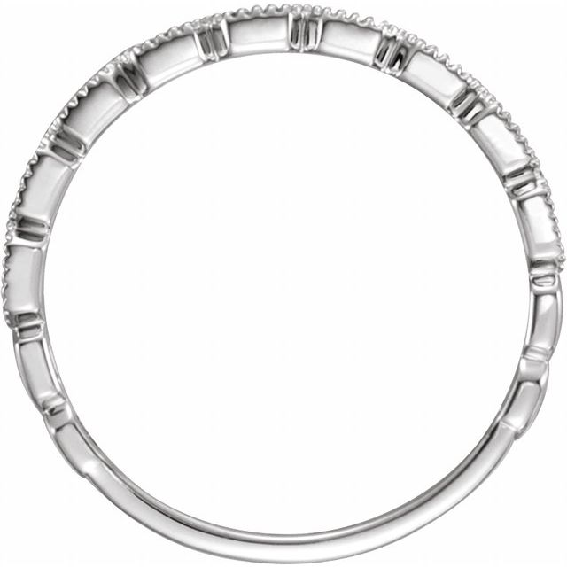 14K White .08 CTW Diamond Ring Size 7