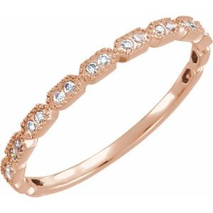 14K Rose .08 CTW Diamond Ring Size 7
