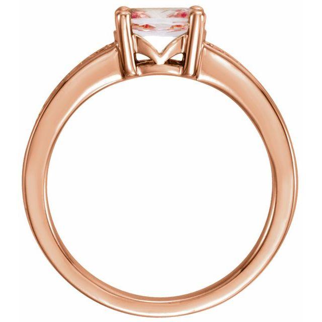14K Rose Morganite & 1/10 CTW Diamond Ring
