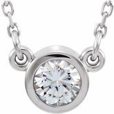 Bezel-Set Solitaire Birthstone Necklace