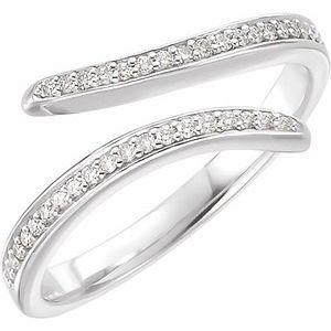 14K White 1/6 CTW Diamond Ring