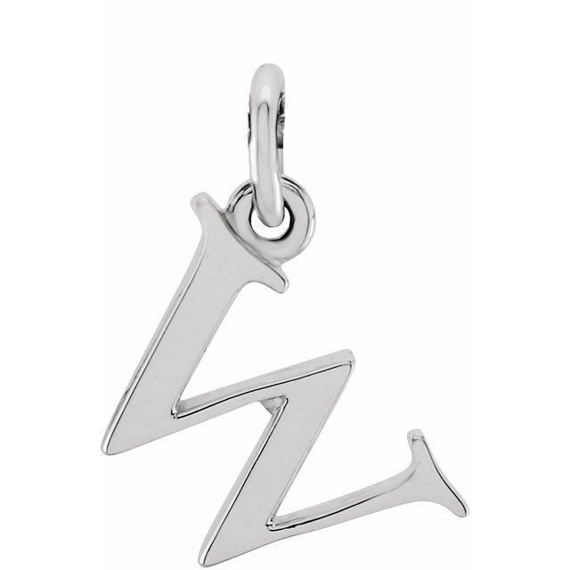 Sterling Silver Lowercase Initial w 16