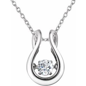 "14K White 1/6 CT Diamond Mystara® 18"" Necklace"